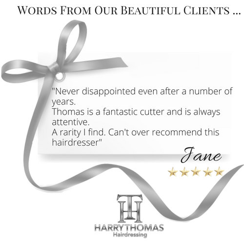 Harry Thomas Hairdressers client testimonials
